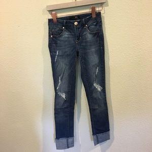 1822 Denim Jeans - 1822 Denim distressed roll cuff jeans